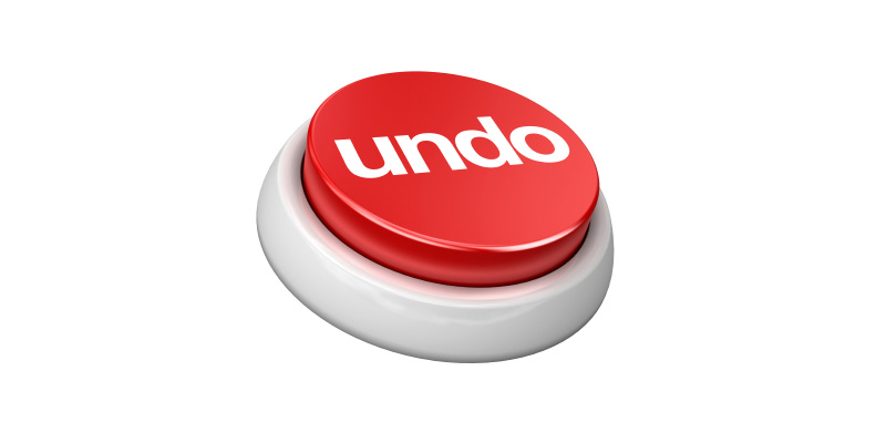 Brentwood Blog - The Undo Button